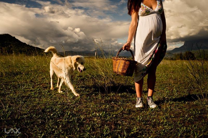 Fotografía artística de embarazo. Fotógrafo Víctor Lax
